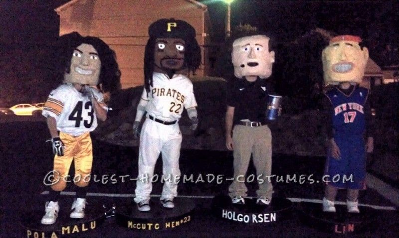 Original Homemade Halloween Costumes Bobbleheads Homemade - 2016 mens halloween costume ideas