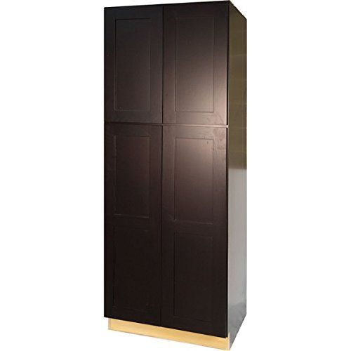 Everyday Cabinets Dark Espresso Wood 30inch Shaker Pantry Utility Kitchen Cabinet Find O Ikea Storage Cabinets Wood Storage Cabinets Kitchen Cabinet Storage