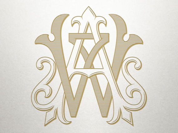 Wedding Initials Logo Aw Wa Wedding Initials Vintage Wedding Initials Logo Initials Logo Wedding Initials