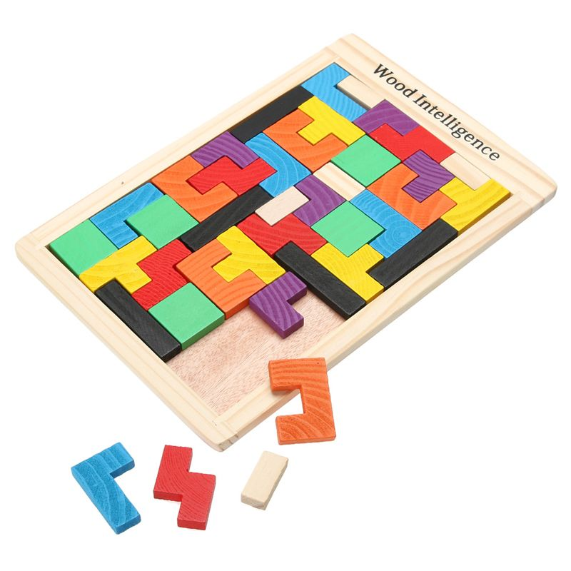 Cheap Nuevo Juguete Tablero De Juego De Tetris Tangram Rompecabezas