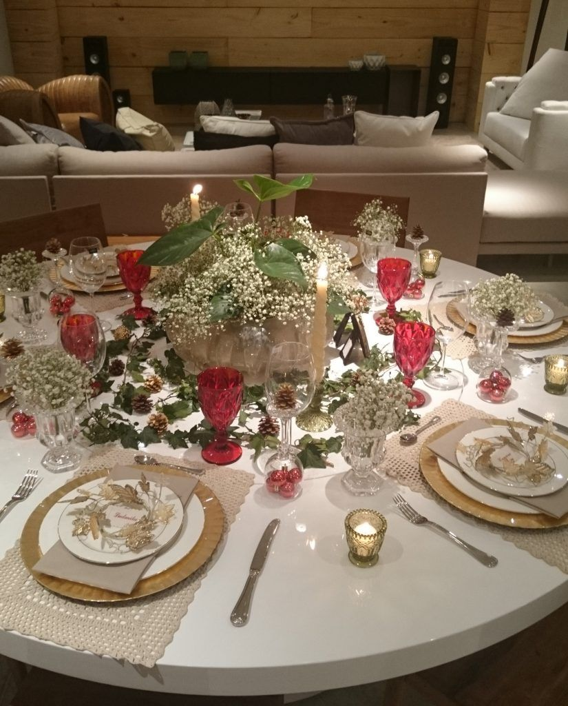 Inspiracao Para Mesa De Natal Utilizando Tons De Dourado