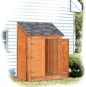 Free lean to shed plan ryanshedplans projectjes for Tool shed plans