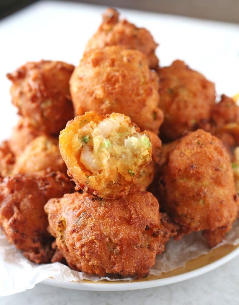 Shrimp Hushpuppies Recipe Hush Puppies Recipe Recipes Food Blog