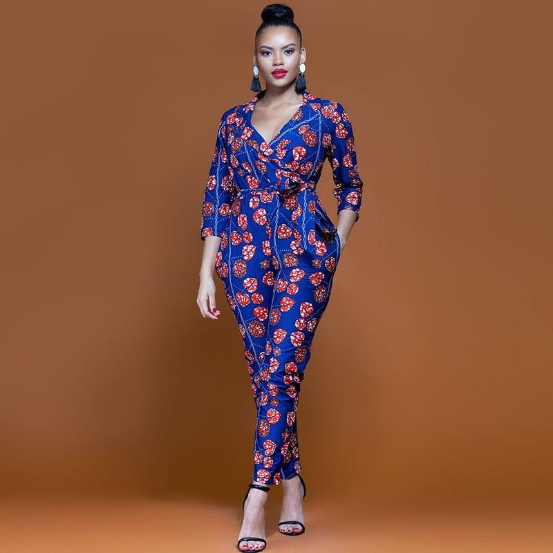 4ecb60f3453c Women s Slim Rompers African Fashion Dresses