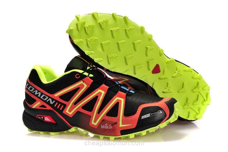 6009ed42cba7 A50150 Salomon Speedcross 3 CS Men Sneaker Black Orange Green ...