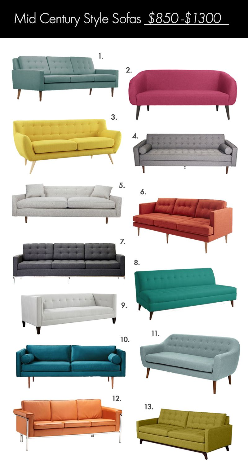The Ultimate Mid Century Style Sofa Guide | Mid century ...
