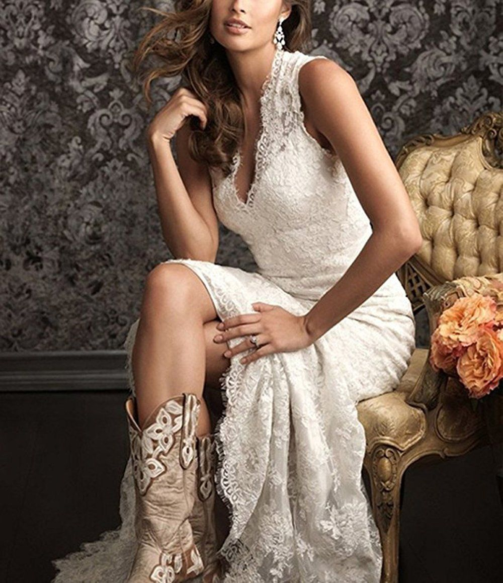 Country style lace wedding dress  Ellenhouse Womens  Backless Lace Vintage Country Style Bridal