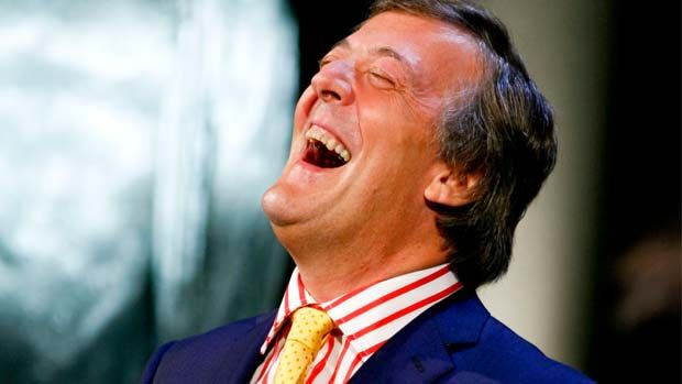 Image result for stephen fry laughing