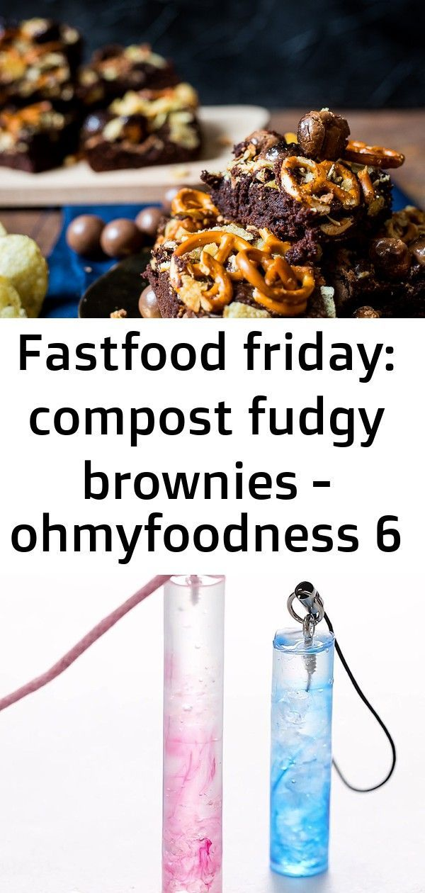 Fastfood friday: compost fudgy brownies - ohmyfoodness 6 #cutemarshmallows Fastfood Friday: Compost...