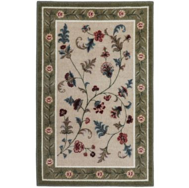 Flower Patch Washable Rectangular Rug Found At Jcpenney