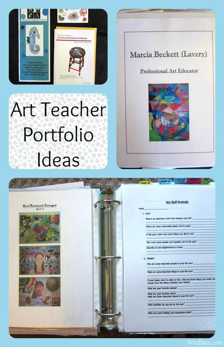 Art Teacher Resume Art Teacher Portfolio Ideas For An Interview  Teaching Portfolio