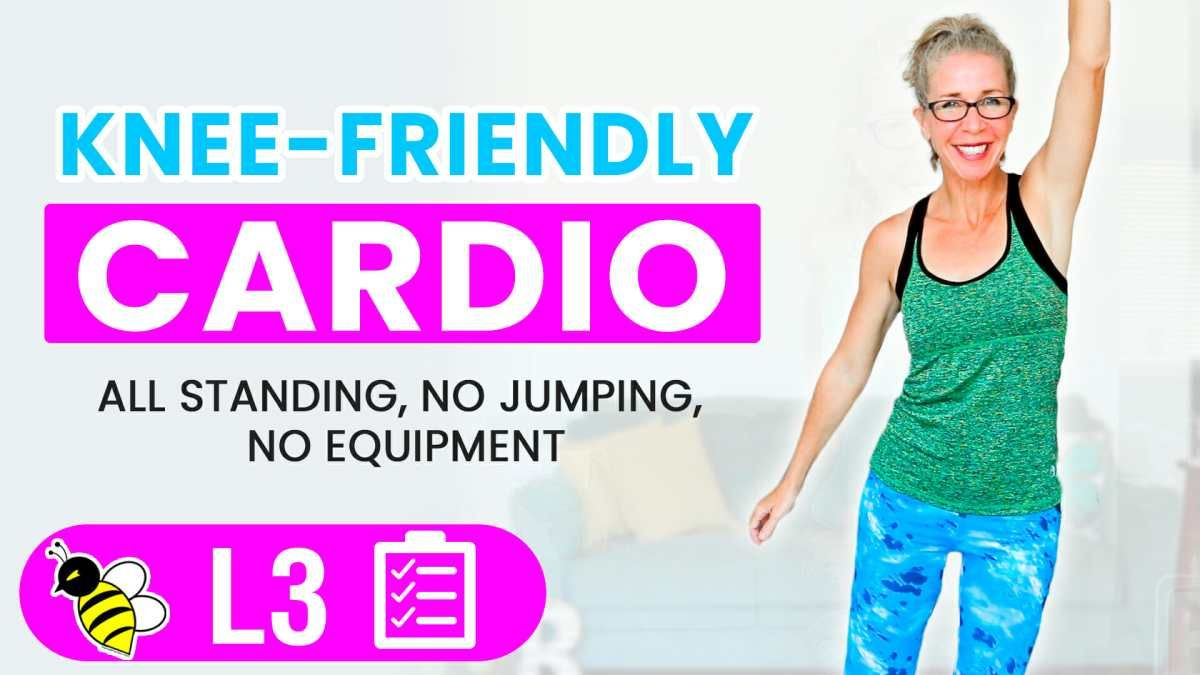 35 Minute KNEE FRIENDLY Cardio Workout + KNEE Strengthening Exercises • Pahla B Fitness
