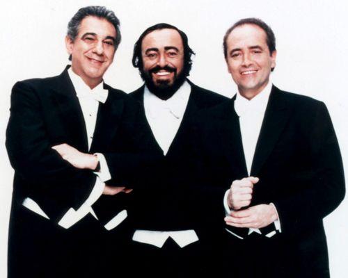 Los tres tenores: Plácido Domingo, Luciano Pavarotti y Jose ...