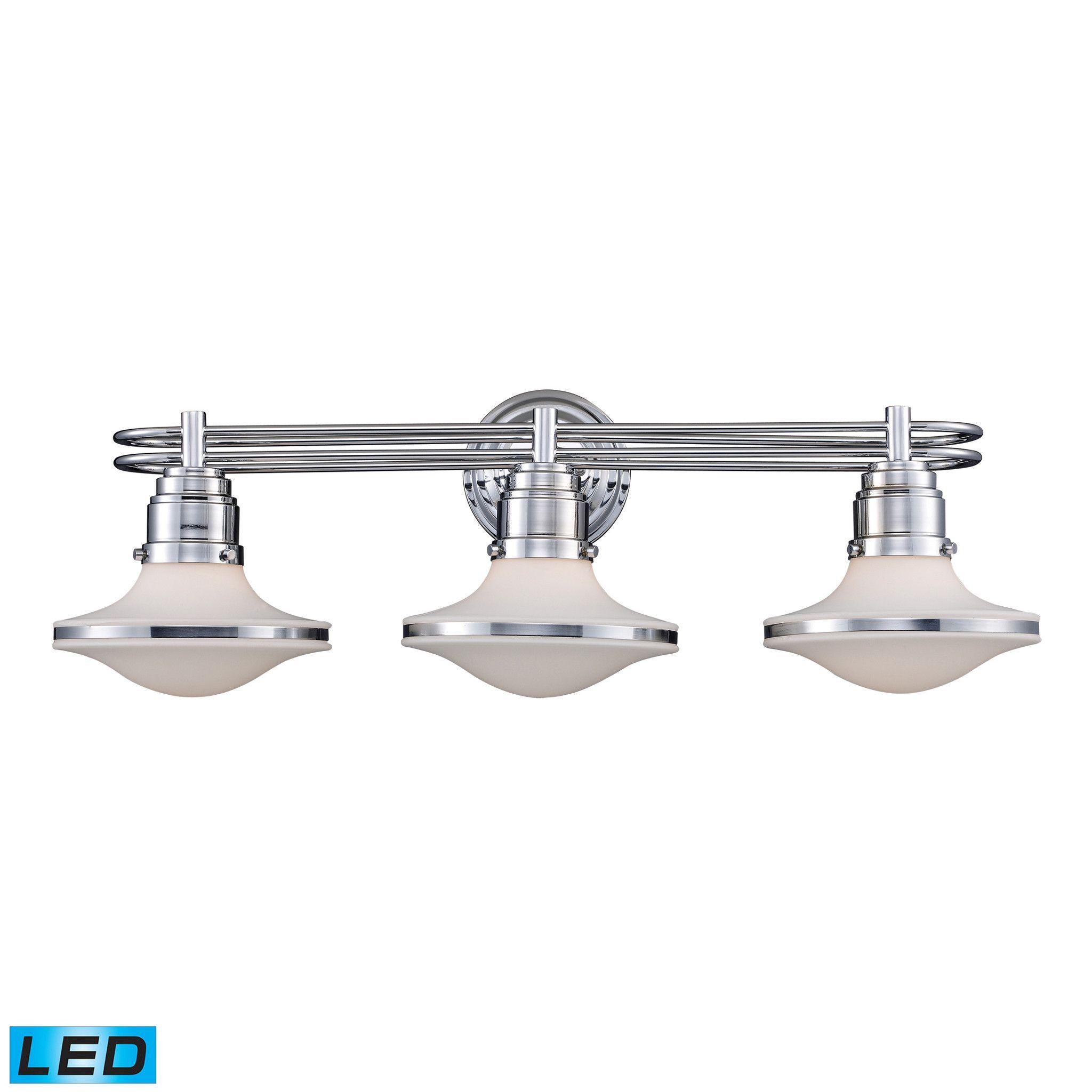 ELK Retrospective 3Light Bath Bar In Polished Chrome LED 17052