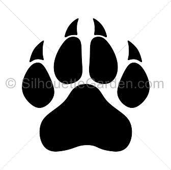 panther paw print silhouette clip art download free versions of the rh pinterest com red panther paw print clip art panther paw print clip art free