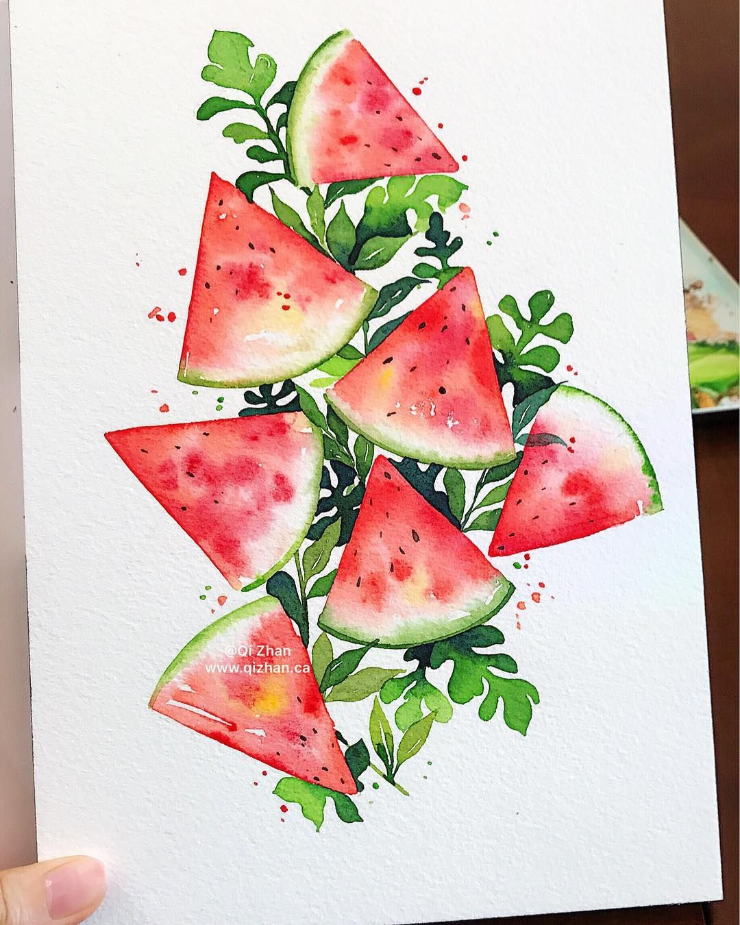 Hey Summer Art Illustration Watercolors Watercolor