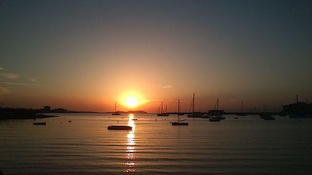 Puiesta de sol desde el Café del Mar. San Antonio. Ibiza