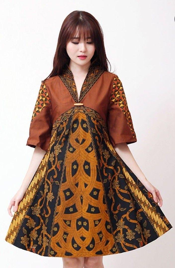 Dress Batik Dengan Gambar Model Baju Wanita Wanita Pakaian Wanita