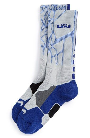 best website 9cc60 2a5a1 Boy s Nike  LeBron - Hyper Elite  Cushioned Basketball Crew Socks