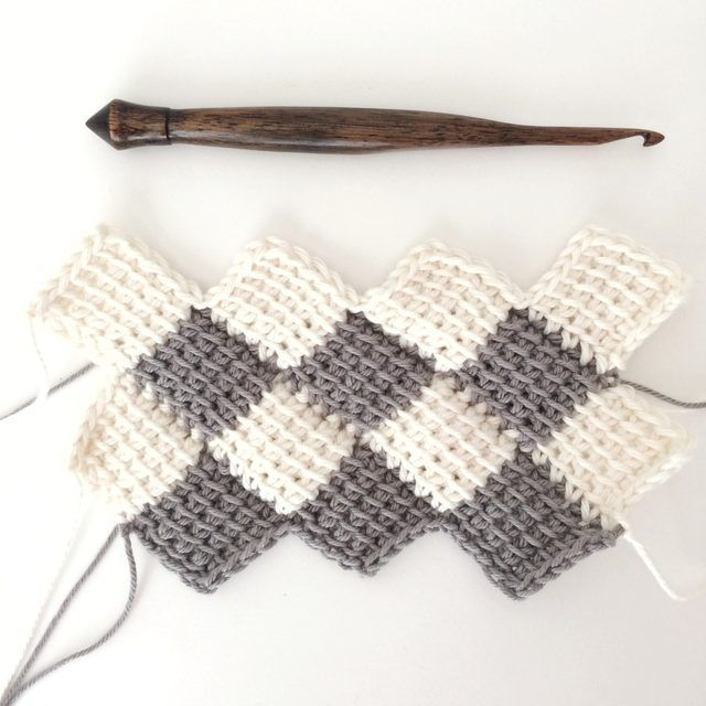 How to Use the Tunisian Entrelac Crochet Method | Crochet tunecino ...