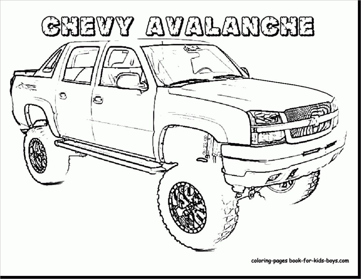 Sel Truck Chevy Truck Coloring Pages