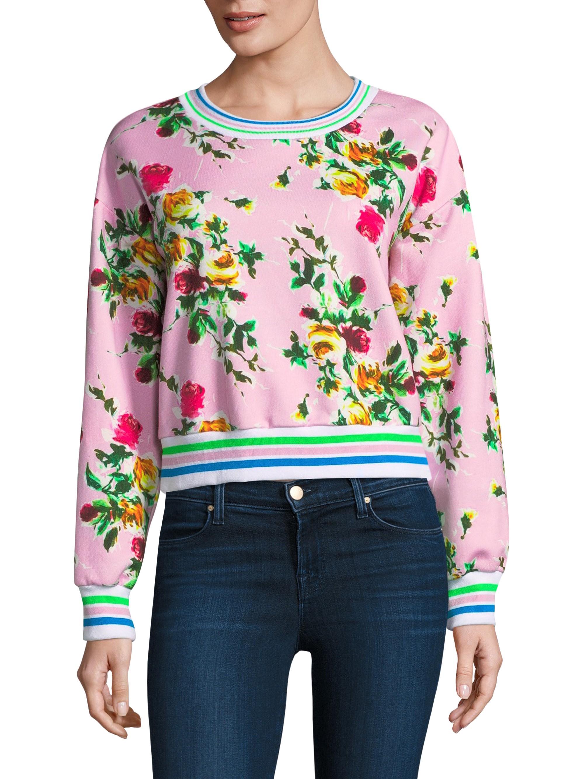a14495308eea Milly Tyler Floral Sweatshirt - Petal X-Small
