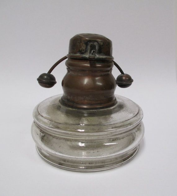 Antique Miners Oil Lamp Kerosene Glass And Copper By Retrogal415 Oil Lamps Lantern Candle Holders Lamp