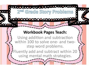 This workbook is designed for each page to be a 20 minute lesson. 2 minute warm ups working on addition within 20 to mastery. Story problems with detailed Teaching Points. Teach students the language behind story problems to help them master One-Step Story Problems.