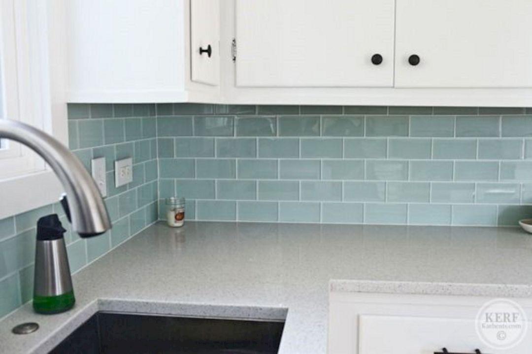 37 blue sea glass tile kitchen