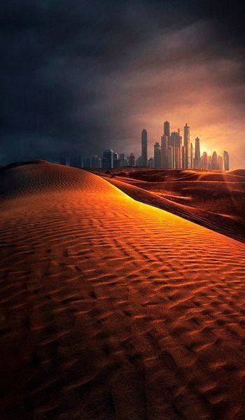 The Desert and The City of Dubai.. by Mike Andrews