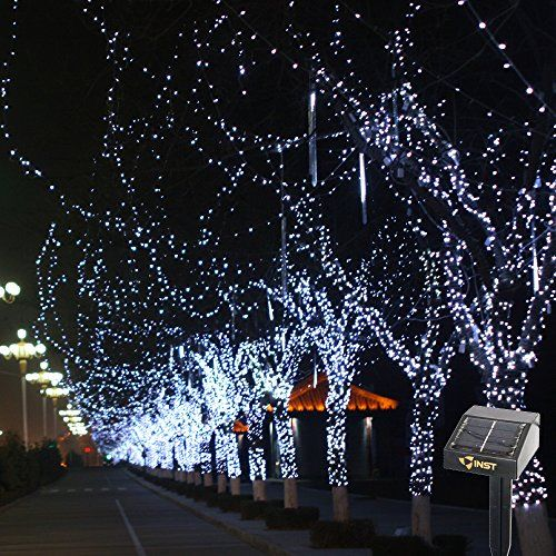 inst solar powered led string light ambiance lighting 545ft 17m 100 led solar