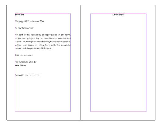 Word Book Layout Templates Free | Monomyth | Pinterest | Layout ...