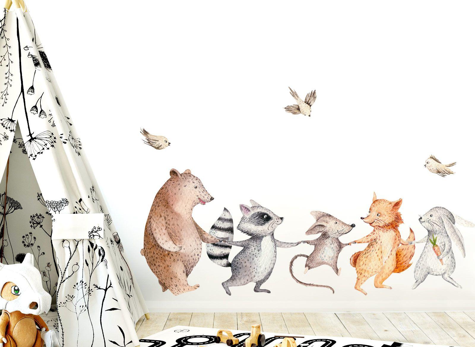 Little Deco Wandtattoo Waldtiere Hand In Hand Dl148 Wandtattoo Waldtiere Wandtattoo Kinderzimmer Tiere Wandtattoo Babyzimmer