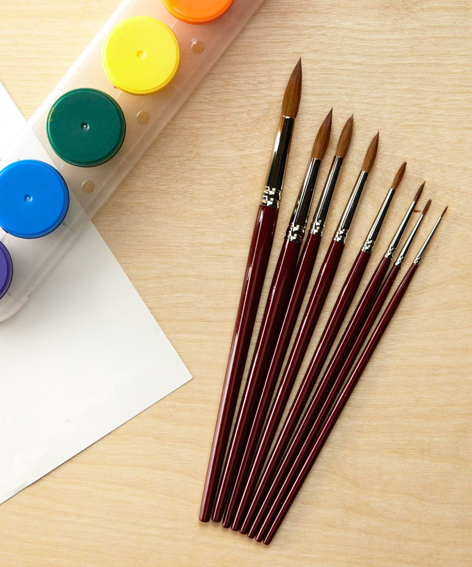 Red Sable 48 Piece Round Watercolor Brush Set By S S Worldwide
