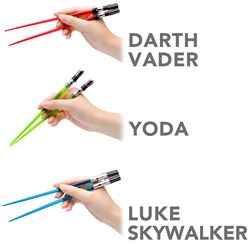 shut the hell up! star wars chopsticks. @Maria Grammer maybe we need these for our trips to Harry's--I wouldn't even be embarrased to bust out my own chopsticks if they were THESE!