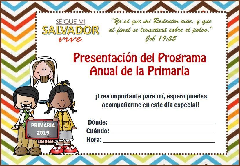INVITACIÓN PARA LA PRESENTACIÓN DE LA PRIMARIA EN LA REUNIÓN ...