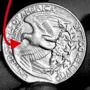 1984 D Washington Quarter Error Coin 25c Spitting Eagle Rare