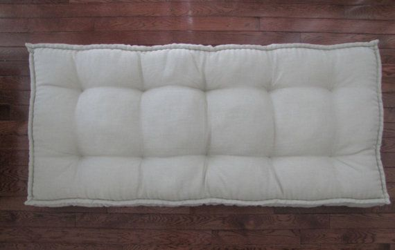 Linen Daybed Mattress Custom Cushions Tufted By Gratefulhome