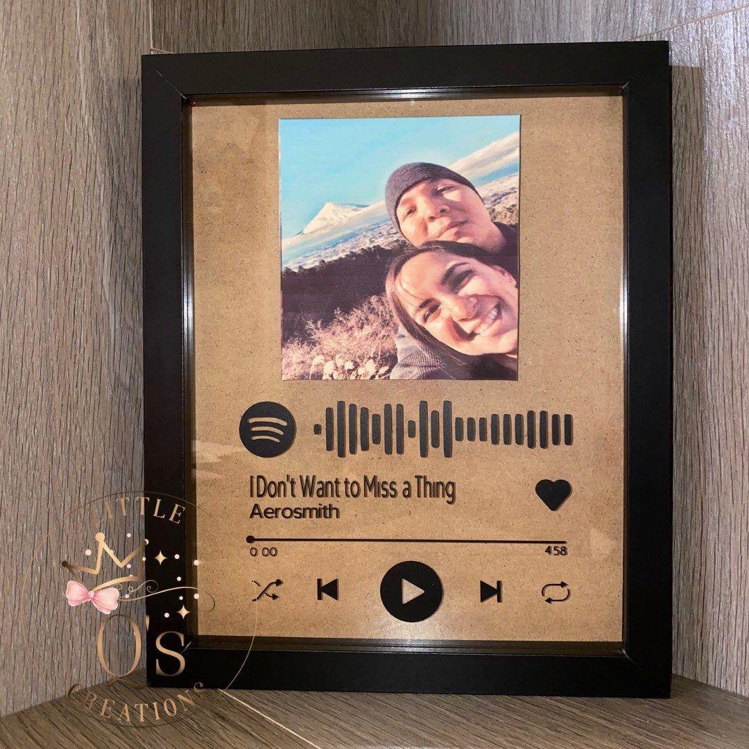 Spotify Shadow Box Shadow Frame Personalized Shadow Box Flower Box Flower Frame