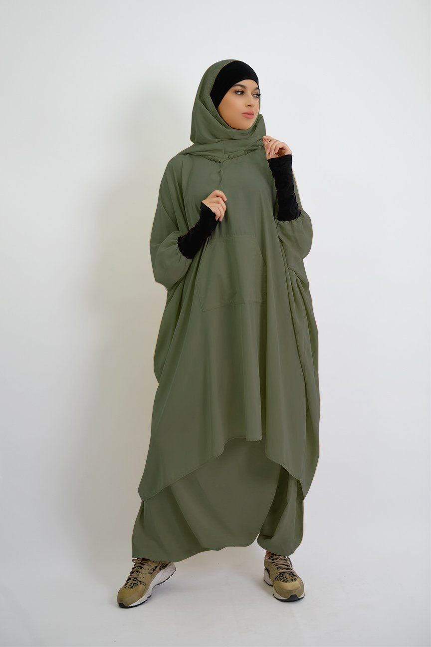 Sports Clothing With Integrated Hijab Muslim Fashion Hijab Outfits Muslim Women Fashion Muslim Fashion