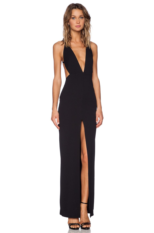 a820348e654 SOLACE London Irvin Maxi Dress in Black