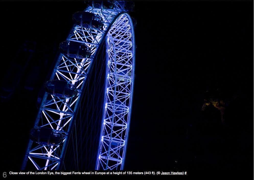 Close Up Of The London Eye London Night London Night City