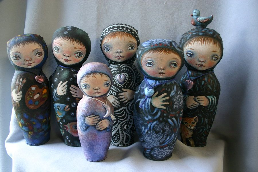 Sue makes these incredible dolls - they have inspired me with ideas of my own.