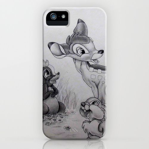 Bambi iPhone Case Bambi Drawings Disney drawings