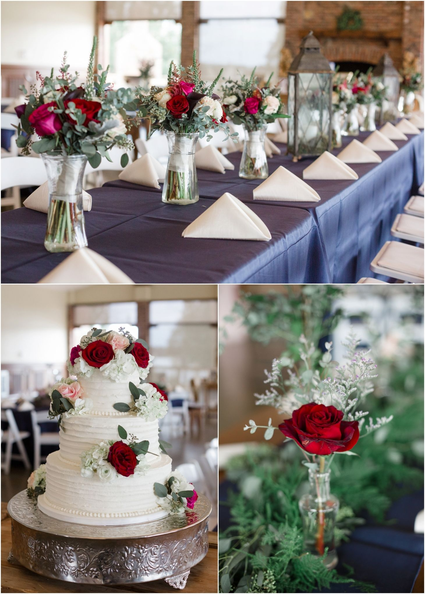 Navy And Red Wedding Decor Wedding Tablescapes Pinterest Red
