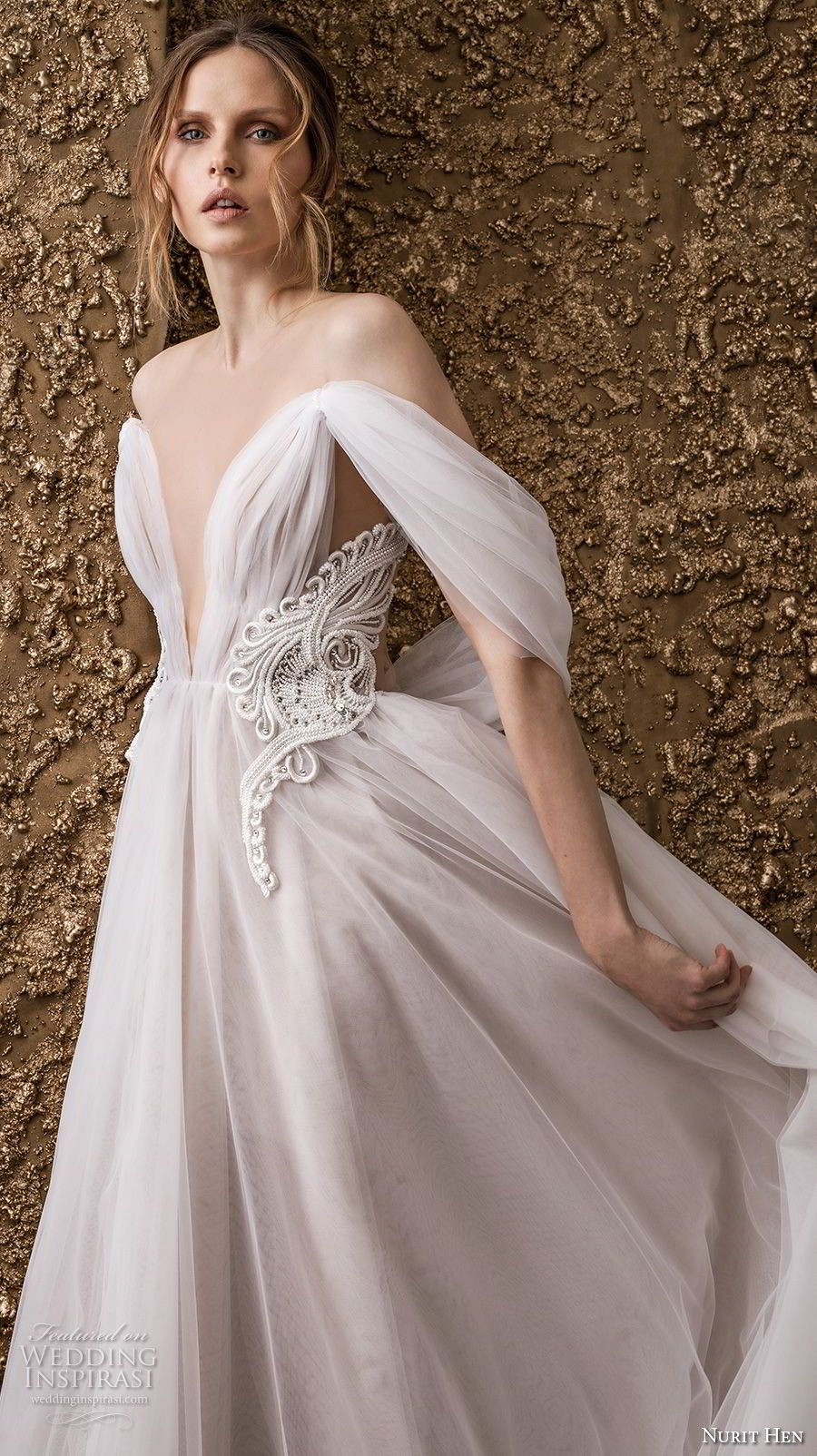 39+ Off the shoulder a line ruched country wedding dress ideas in 2021
