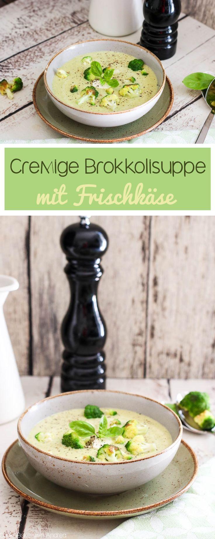 Cremige Brokkolisuppe mit Frischkäse #creamcheeserecipes