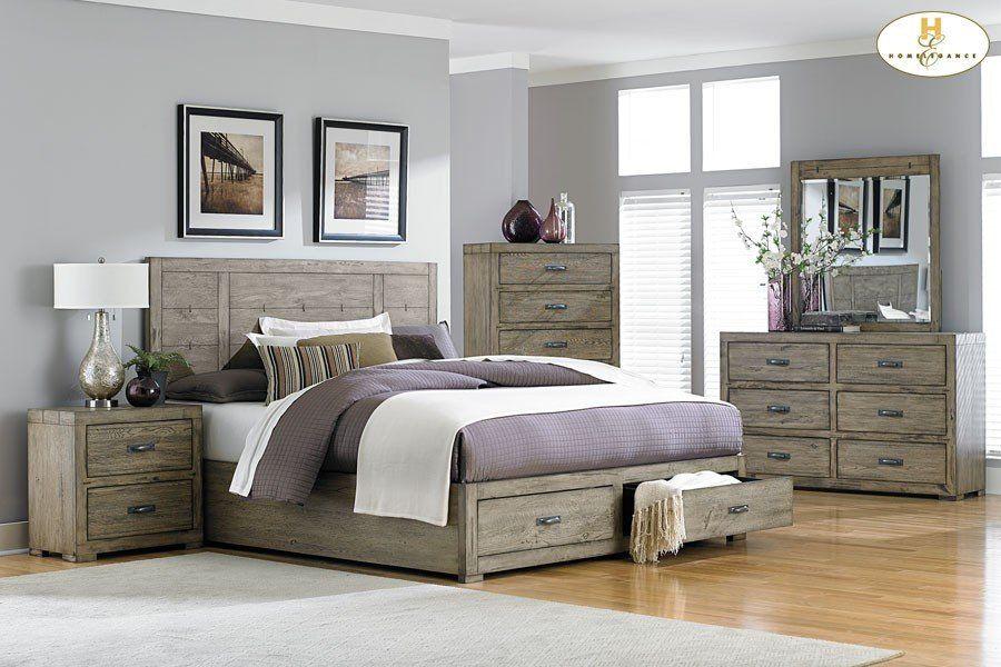 Driftwood Storage Platform Abbott Bed Bed room Pinterest