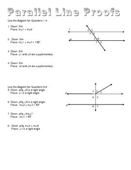 Worksheet+of+proofs+for+parallel+lines+cut+by+a+transversal.++ ...