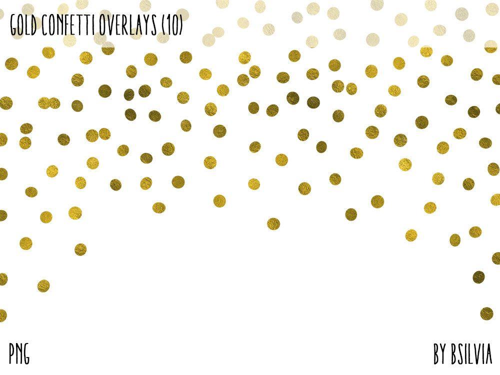 Gold Confetti Overlays Gold Foil Confetti Transparent Png Etsy Overlays Transparent Photo Overlays Overlays